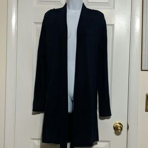 White House Black Market Long Cardigan Size M